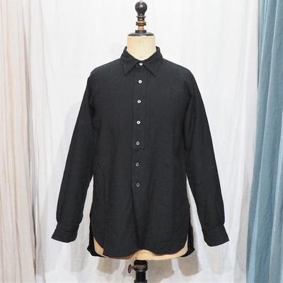 ジャンゴ アトゥール クラシック プレミアムリネン テイラーシャツ ブラック