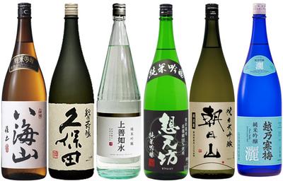 特選・越後の純米大吟醸・純米吟醸 1800ml 6本セット