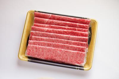 小形牧場牛 薄切り食べ比べ 霜降り・赤身各200g