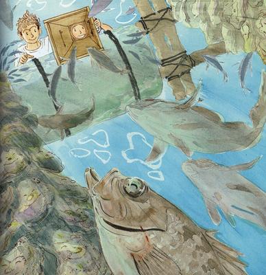 水山牡蠣10個(ナイフ付)、絵本「カキじいさんとしげぼう」セット
