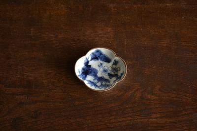 萠窯/木瓜豆皿(松竹梅)