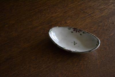 藤田佳三/鉄絵色彩舟形豆鉢
