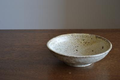 尾形アツシ/ヒビ粉引取り鉢
