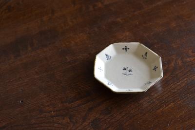 藤田佳三/染付八角小皿