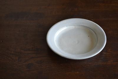 福永芳治/粉引6寸皿
