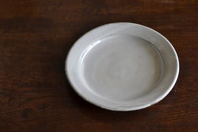 福永芳治/粉引7寸皿
