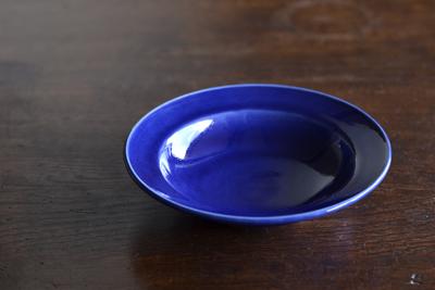 石田誠/紅毛手4.5寸ハットボウル(ブルー)