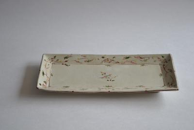 藤田佳三/赤絵長角皿