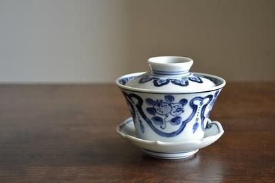 萠窯/蓋碗(染付果実文)