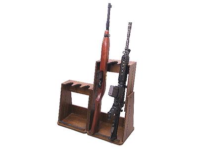 ライフル3挺掛け変動型ガンスタンド 2台セット【GS03AN1】