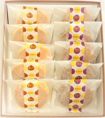 【化粧箱入】どら焼き詰合せ10個(栗どら5個バター5個)