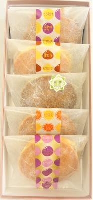 【化粧箱入】どら焼き5種箱入り(栗・バター・大納言・オレンジ・季節のどら焼き)