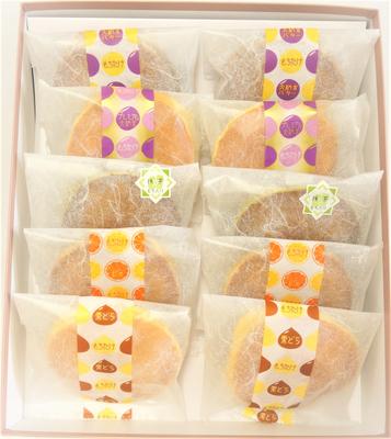 【化粧箱入】どら焼き5種10個入り(栗・バター・大納言・オレンジ・季節のどら焼き)