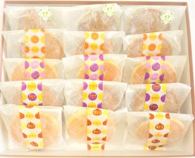 【化粧箱入】どら焼き5種15個入(栗・バター・大納言・オレンジ・季節のどら焼き)