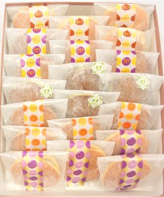 【化粧箱入】どら焼き5種20個入(栗・バター・大納言・オレンジ・季節のどら焼き)
