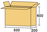 テレビ用ダンボール500 [ 内寸サイズ 500×200×600 ]