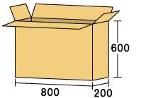 テレビ用ダンボール800 [ 内寸サイズ 800×200×600 ]
