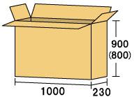 テレビ用ダンボール1000 [ 内寸サイズ 1000×230×900(800) ]