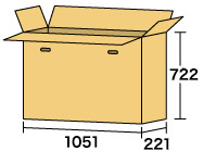 テレビ用ダンボール1060 [ 内寸サイズ 1051×221×722 ]