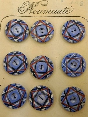 水色のボタン・1個 PB-14