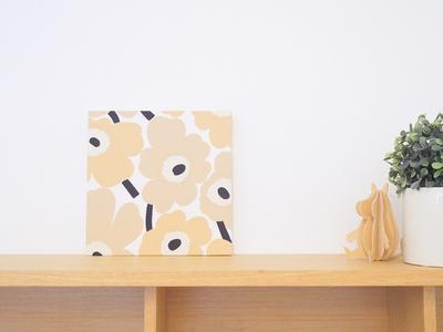 【既製品】マリメッコ ミニウニッコ/ベージュ 18cm×18cmパネル