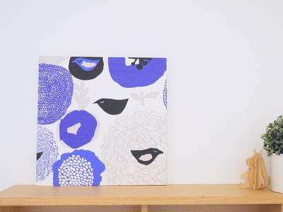 【既製品】カウニステ スヌンタイ/ブルー 30cm×30cmパネル