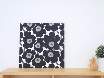 【既製品】マリメッコ ミニウニッコ/ブラック 30cm×30cmパネル