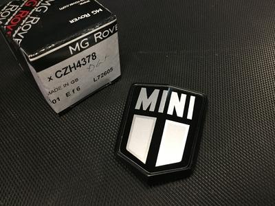 ボンネットバッヂ MINI ブラック/シルバー