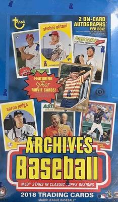 MLB 2018 Topps Archives Hobby Box