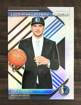 Luka Doncic 2018-19 Prizm Luck of the Lottery Silver Prizm