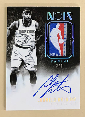 Carmelo Anthony 2014-15 Noir Tag Patch Auto 3枚限定