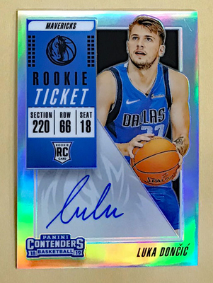 Luka Doncic 2018-19 Contenders #122 Rookie Prizm Auto
