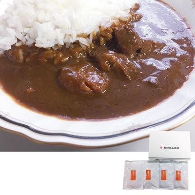 飛騨牛入りスパイシーカレー 4食セット
