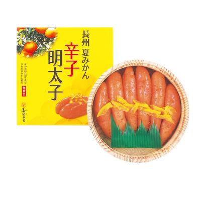 長州夏みかん辛子明太子(無着色)250g木樽入