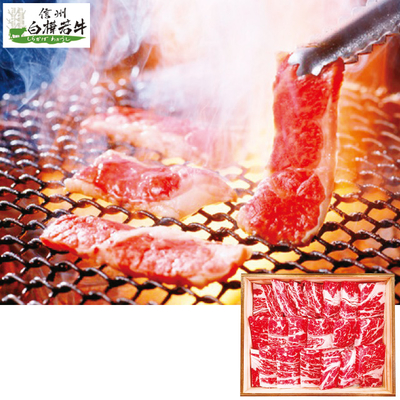 信州白樺若牛焼肉用 500g(ロース・肩ロース)