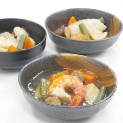 吟月 彩り野菜と魚介3種の和風あんかけ