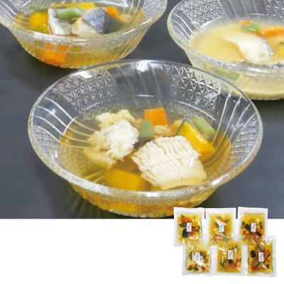 吟月 天然魚3種の冷製スープ