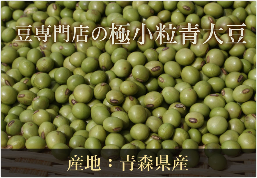 豆専門店の極小粒青大豆(黒神)