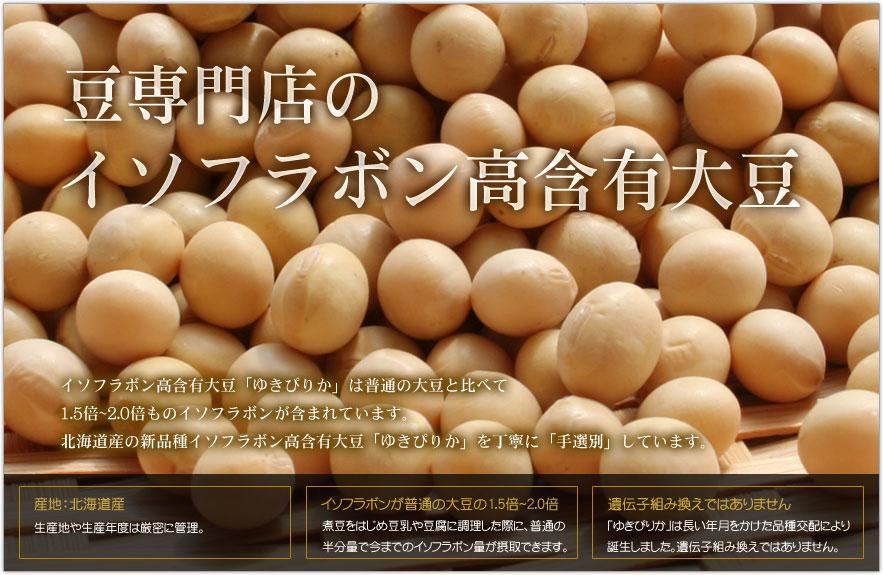 イソフラボン高含有大豆ゆきぴりか