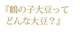鶴の子大豆とは