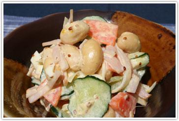 タマフクラのサラダ