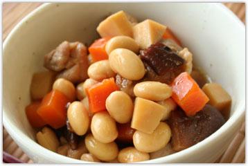 イソフラボン高含有大豆ゆきぴりかの煮豆