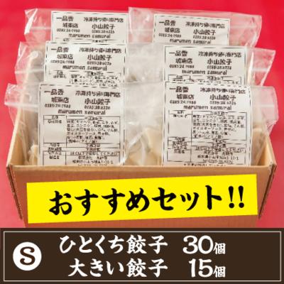 【S】ひとくち餃子30個.大きい餃子15個のセット