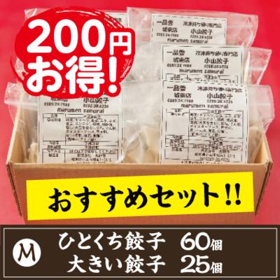 【M】ひとくち餃子60個.大きい餃子25個のセット