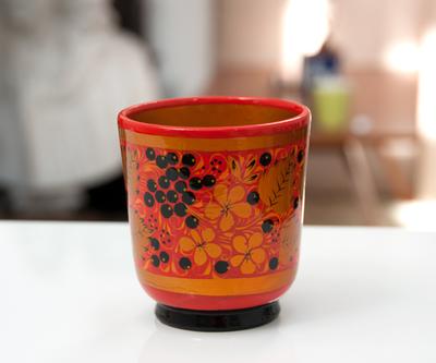 【VOLGA】ホフロマ塗り 木製カップ