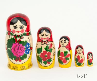 【VOLGA】マトリョーシカ クラシックロシヤーノチカ 5体組