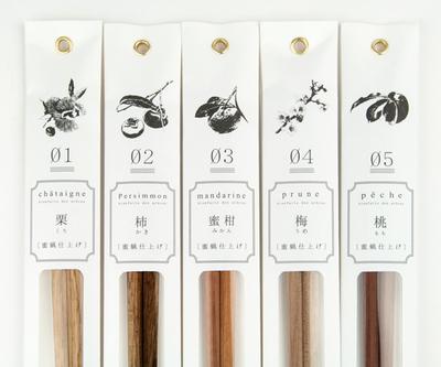 3膳以上お買い上げで送料割引中【tetoca】 果樹の箸 蜜蝋仕上げ