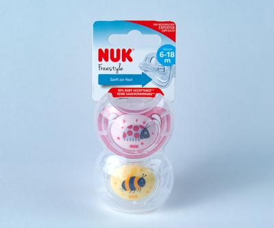 【NUK】おしゃぶり フリースタイル女の子向け2個セット