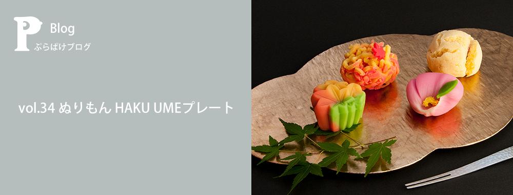 ぷらぱけブログ vol.34 ぬりもん HAKU UMEプレート