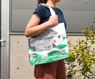 飼料袋リサイクルバッグ トート タテ型L